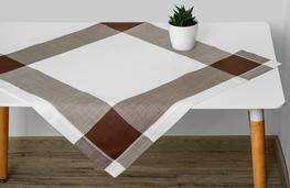 85x85 cm kwadrat imitujący len BRĄZOWA KRATA (510-12)