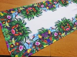 40x140 cm bieżnik drukowany KOLOROWE PTAKI (2403-10)